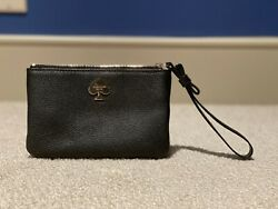 Barely Used Kate Spade Clutch Black With Cream Black Stripes Inside $31.47