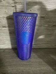 Starbucks Taiwan Limited Edition Aurora Bling Blue Purple Cold Cup Tumbler