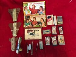 Vintage 4 Tailor 60 Measuring Tapes, 7 Dix And Rands And 2 Sewing Susan Needles +