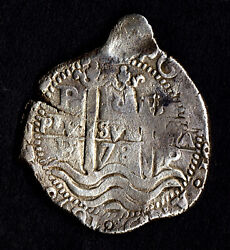 Lovely Pirate Cob And Spanish Colonial Silver 8 Reales Potosi P E 1678 3 Dates