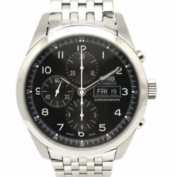 Oris Big Crown Chronograph Classic Xxl 675 7515 4064m Automatic Black Dial Menand039s