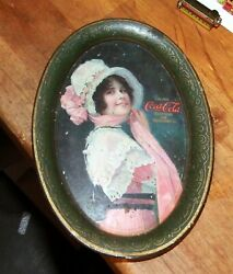 Old 1914 Coca Cola Betty Tip Tray