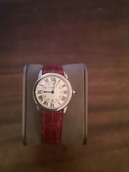 Rond Solo Rouge Womenand039s Wristwatch Model W6700155