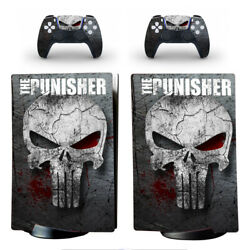 Ps5 Digital Edition Console Vinyl Skins Stickers Decals Marvel Hero The Punisher