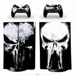 Ps5 Digital Edition Console Vinyl Skins Stickers Decal Marvel The Punisher Skull