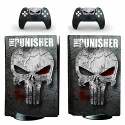 Ps5 Standard Disc Console Vinyl Skin Stickers Decals The Punisher Skull Marvel