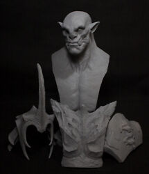 World Of Warcraft Thrall Bust Unpainted Figure Model Gk Blank Kit New Toy Stock