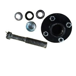 Trailer Axle Kit 2000 Lbs 4 On 4 Idler Hubs 1 Round Spindles