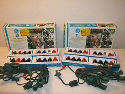Vtg 2 Unused Boxes Ge C7 Cool Bright Xmas String Light Sets 30 Bulbs Total