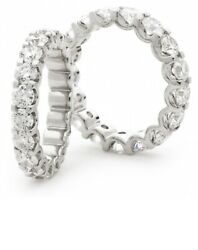 2.00 Ct Round Diamond Claw Set Full Eternity Ring 18k White Gold