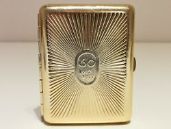 Vintage Ussr Russia Beautiful Jubilee Military Cigarette Tin Case Box 60 Years