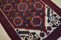 3and0394 X 6and0393 Fine Balouch Bird Animal Design Nomad Carpet Handmade Wool Area Rug