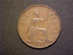 1948 Great Britain One Penny Km 845-very Nice Circ Collector Coin -d3512uxx