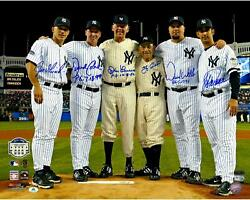 New York Yankees Perfect Game Pitchers And Catchers Signed 16 X 20 Photo And Inscs
