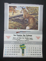 Vintage Remington Peters 1964 July August Calendar Page Two's A Crowd Fox Pic