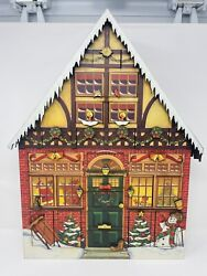 Large Byers Choice Traditions Wooden Christmas House Advent Calendar 21x16x3