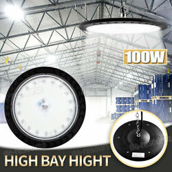 100w Ufo Led High Bay Light Warehouse Industrial Facility Lighting Hanging Chain