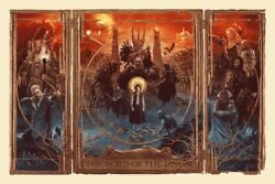 The Lord Of The Rings Triptych Gabz Bottleneck Gallery Mondo Poster Print Lotr