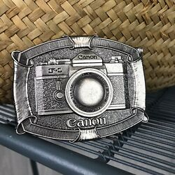 Canon F1 Vintage Camera Pewter Belt Buckle Limited Edition Made In U.s.a.