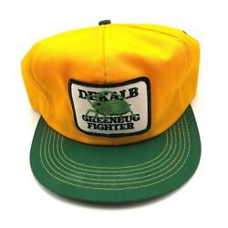 Vintage Dekalb Greenbug Fighter K Products Hat Cap Yellow Farm Agriculture