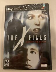 X-files Resist Or Serve Playstation 2, Ps2 2004 Factory Sealed - Rare - Ex