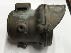 Vintage Early Harley Motorcycle Indian Henderson Miller Carbide Lamp Gas Light