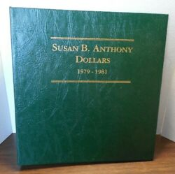 18 Coins In Littleton Album Susan B. Anthony Dollars 1979-1981 + 1999 W/ Proofs