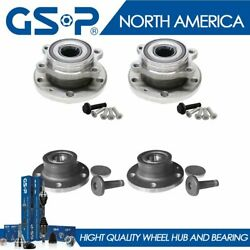 4pcs Front Rear Wheel Hub And Bearing For Cc Eos Golf Jetta Tiguan Awd Fwd Vr6