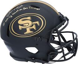 Joe Montana 49ers Signed Eclipse Authentic Helmet And I Left My Heart In Sf Insc
