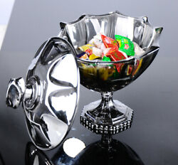 Glass Storage Food Containers With Lids Jar With Lid Sugar Bowl Dish Clear Candy