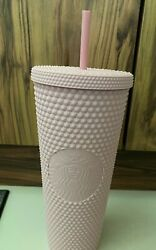 Starbucks Limited Edition Indonesia Matte Soft Pink Studded Cold Cup Tumbler