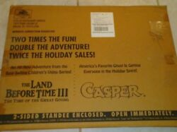 1990's Casper The Ghost And The Land Before Time 3 Movie Doubled Sided Standee
