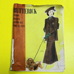 Vintage 1930s Butterick Sewing Pattern Fashion Magazine Autumn 1937- 48 Pages