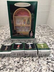 Hallmark And039the Nutcracker Balletand039 Display Stage And 4 Ornaments - New