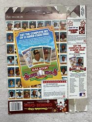 1984 Ralston Cookie-crisp Cereal Box With Superstars Baseball Cards Offer