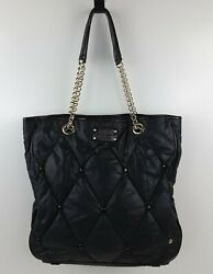 Kate Spade New York Quilted Nylon Chain Straps Tote Handbag Purse