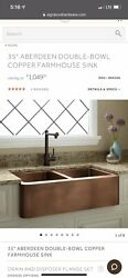 35 Aberdeen Double-bowl Copper Farmhouse Sink