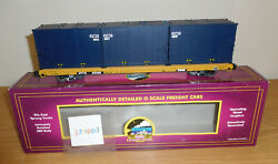Mth 20-98635 Cwi 60' Ttx Flatcar With 3 Trash Container Load O Scale Train Car
