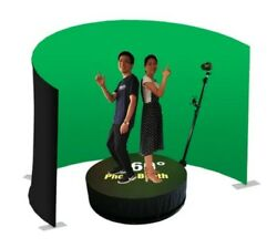 360 Photo Booth Machine Slow Motion Rotating Portable Selfie. No Background