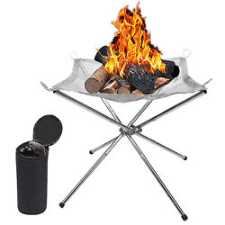 Outdoor Firepit Wood Burning Patio Burner Portable Backyard Camping Foldable New