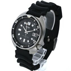 Seiko Second Diver 6105-8110 Automatic Winding Date Black Dial Menand039s Watch Good