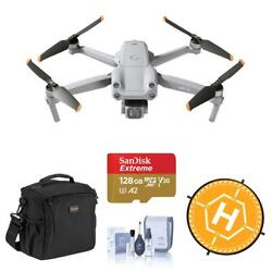 Dji Air 2s 4k Drone With Bag, 128gb Card, Landing Pad, Cleaning Kit