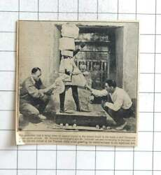 1924 Howard Carter And Mr Callendar Bandaging Life-size Statue To Prevent Injury