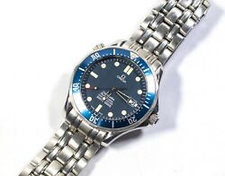 Omega Seamaster Pro 300 Blue Wave Menand039s Watch 41mm