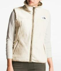 NWT The North Face WOMEN#x27;S CAMPSHIRE SHERPA VEST IN VINTAGE WHITE DUNE BEIGE M $69.97