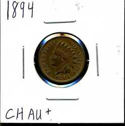 1894 1c Indian Head Cent In Choice Au+ Condition 04612