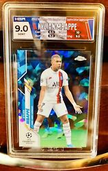 Kylian Mbappe 🔥2019🔥topps Chrome Sapphire Hga 9 Mint Uefa 26 Sp France