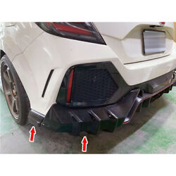 Painted Black Fit For Honda Civic 10th Fk8 5d Rear Side Bumper Protector Cover