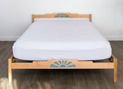 Solid Wood Platform Bed Frame Headboard Placitas Oak Maple Hand Crafted Usa