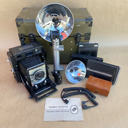 Beseler 4x5 Type C-6 Large Format Us Military Camera W/ 135mm Lens Case And More